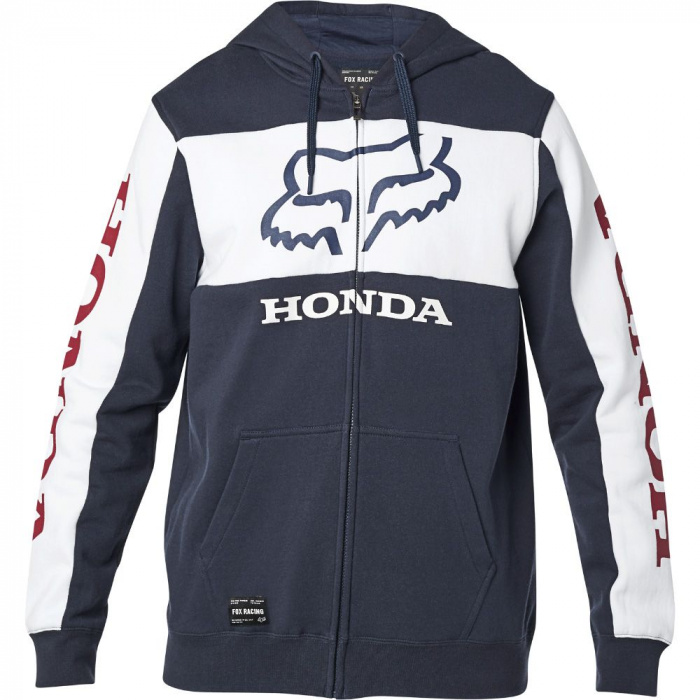 detail Pánská mikina Fox Honda Zip Fleece Navy/White
