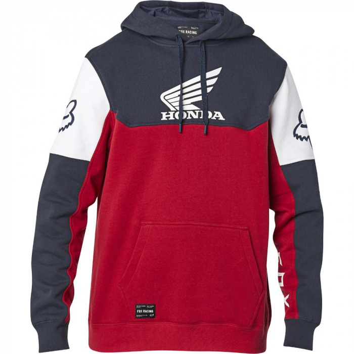 detail Pánská mikina Fox Honda Pullover Fleece Navy/Red